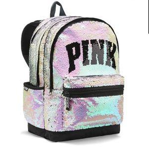 PINK Victoria's Secret Sequin Bling Backpack💓